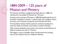 125 Years of Mission and Ministry