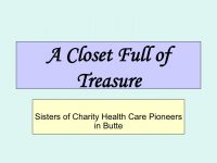 Sisters of Charity Health Care Pioneers